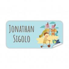 My Adventure - Playground Boy Rectangle Name Label