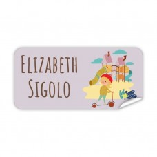 My Adventure - Playground Girl Rectangle Name Label