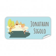 My Adventure - Playing Ball Boy Rectangle Name Label