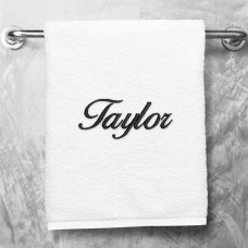 Embroidered Plush Towel