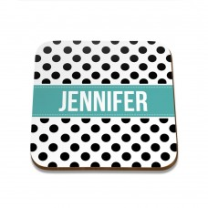 Polka Dot Square Coaster
