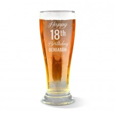 Fancy Happy Birthday Premium Beer Glass
