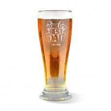 World's Best Dad Engraved Premium Beer Glass