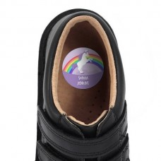 Purple Unicorn Shoe Dot Label