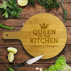 Queen of the Kitchen Round Bamboo Paddle Board