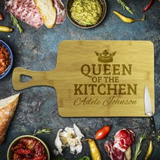 Queen of the Kitchen Rectangle Bamboo Serving Board