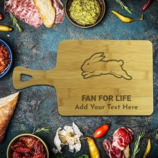 NRL Rabbitohs Rectangle Bamboo Serving Board