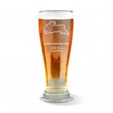 NRL Rabbitohs Christmas Premium Beer Glass