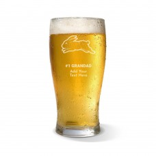 NRL Rabbitohs Father's Day Standard Beer Glass