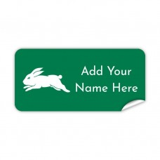 NRL Rabbitohs Rectangle Name Label