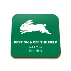 NRL Rabbitohs Square Coaster