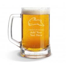 NRL Rabbitohs Glass Beer Mug