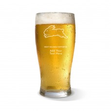 NRL Rabbitohs Standard Beer Glass