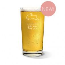 NRL Rabbitohs Pint Glass