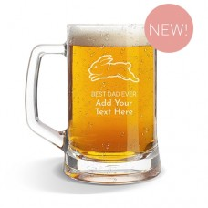 NRL Rabbitohs Glass Beer Mug