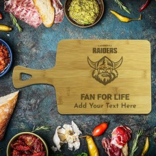 NRL Raiders Rectangle Bamboo Serving Board