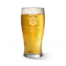 NRL Raiders Engraved Standard Beer Glass