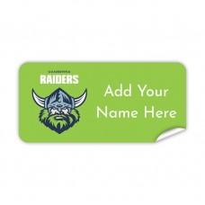 NRL Raiders Rectangle Name Label