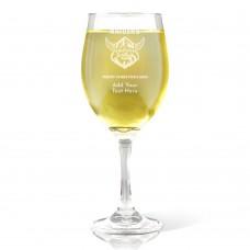 NRL Raiders Christmas Wine Glass