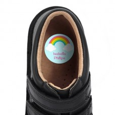 Rainbow Shoe Dot Label
