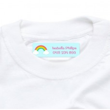 Rainbow Iron On Clothing Label