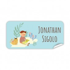 My Adventure - Reading Boy Rectangle Name Label