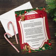 Red Santa Letter