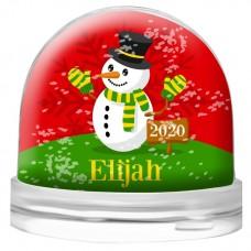 Red Snowman Snow Globe