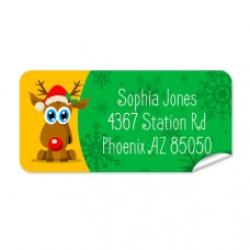 Reindeer Return Address Label