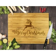 Reindeer Christmas Bamboo Cutting Board