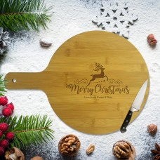Reindeer Christmas Round Bamboo Paddle Board