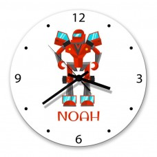 Robot Glass Wall Clock