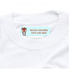 Robot Iron On Clothing Label