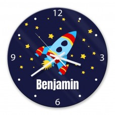 Rocket Glass Wall Clock