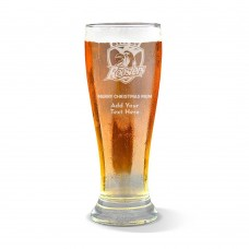 NRL Roosters Christmas Premium Beer Glass