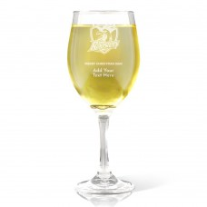NRL Roosters Christmas Wine Glass