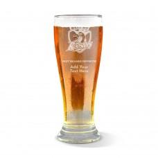 NRL Roosters Engraved Premium Beer Glass