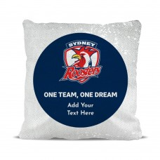 NRL Roosters Magic Sequin Cushion Cover