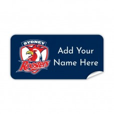 NRL Roosters Rectangle Name Label