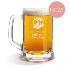 NRL Roosters Glass Beer Mug