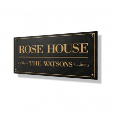 Rose House Business Sign