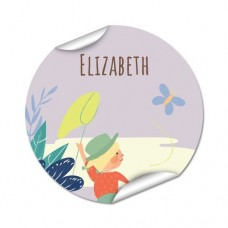 My Adventure - Butterfly Round Name Label