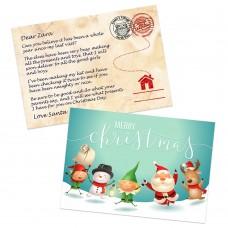 Santa & Elves Postcard