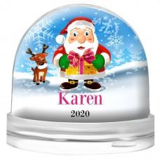Santa Gift Snow Globe