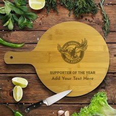 NRL Sea Eagles Round Bamboo Serving Board