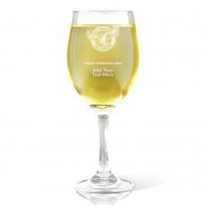 NRL Sea Eagles Christmas Wine Glass