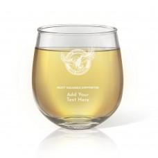 NRL Sea Eagles Engraved Stemless Wine Glass