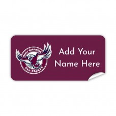 NRL Sea Eagles Rectangle Name Label
