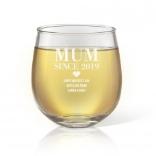 Since Engraved Stemless Wine Glass