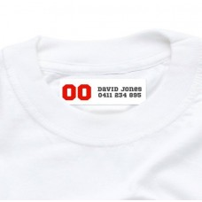 Sports Number Iron On Clothing Label
